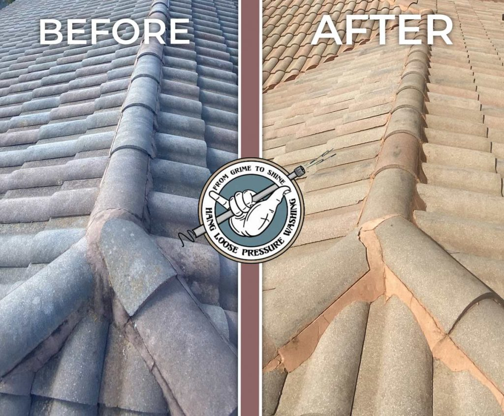 No Pressure Safe Roof Cleaning