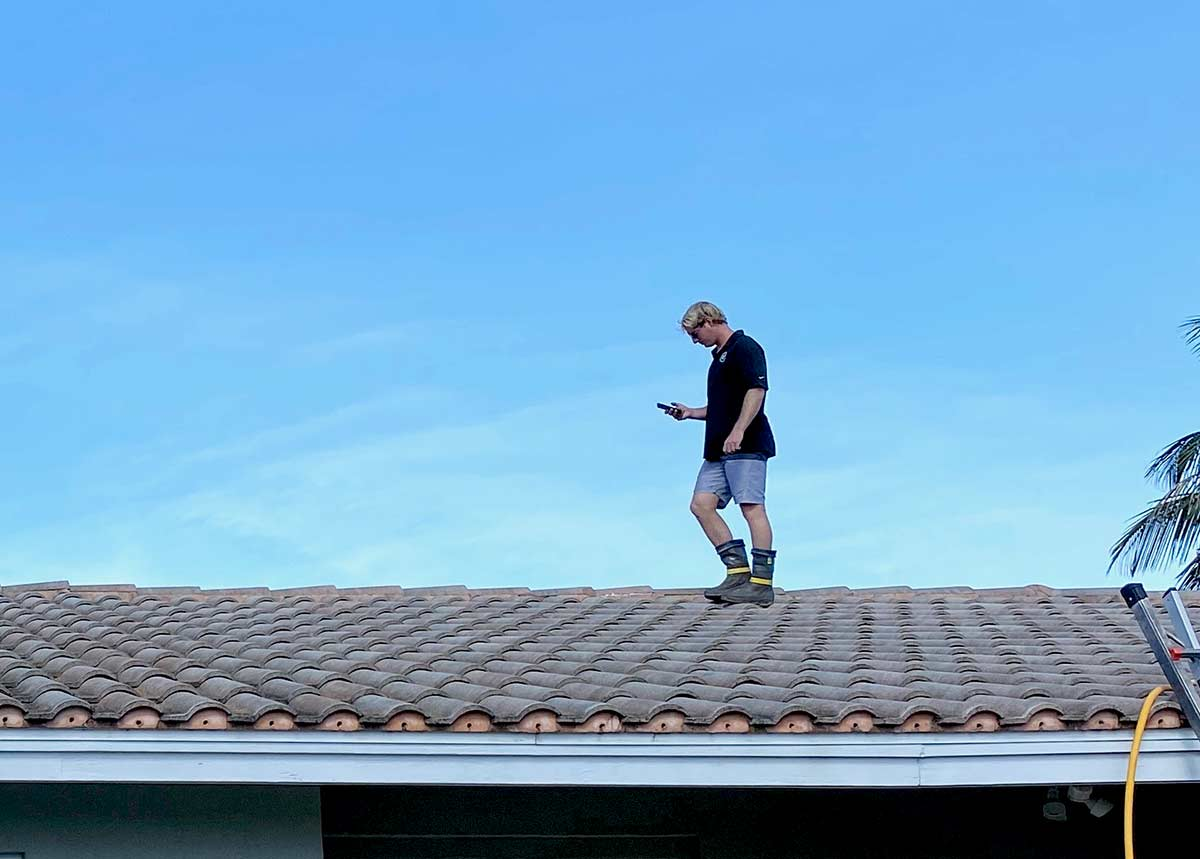DIY Roof Cleaning