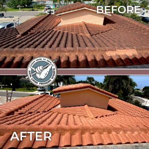 Red Clay Tile Roof Washing