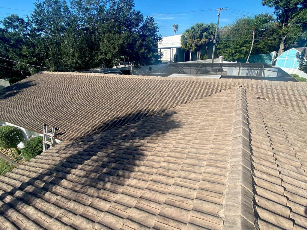 Before Roof Cleaning Job By Hang Loose