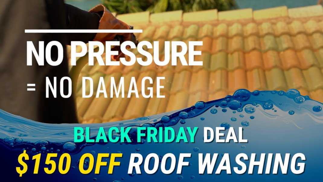 Black Friday Roof Cleaning Deal:  $150 Off