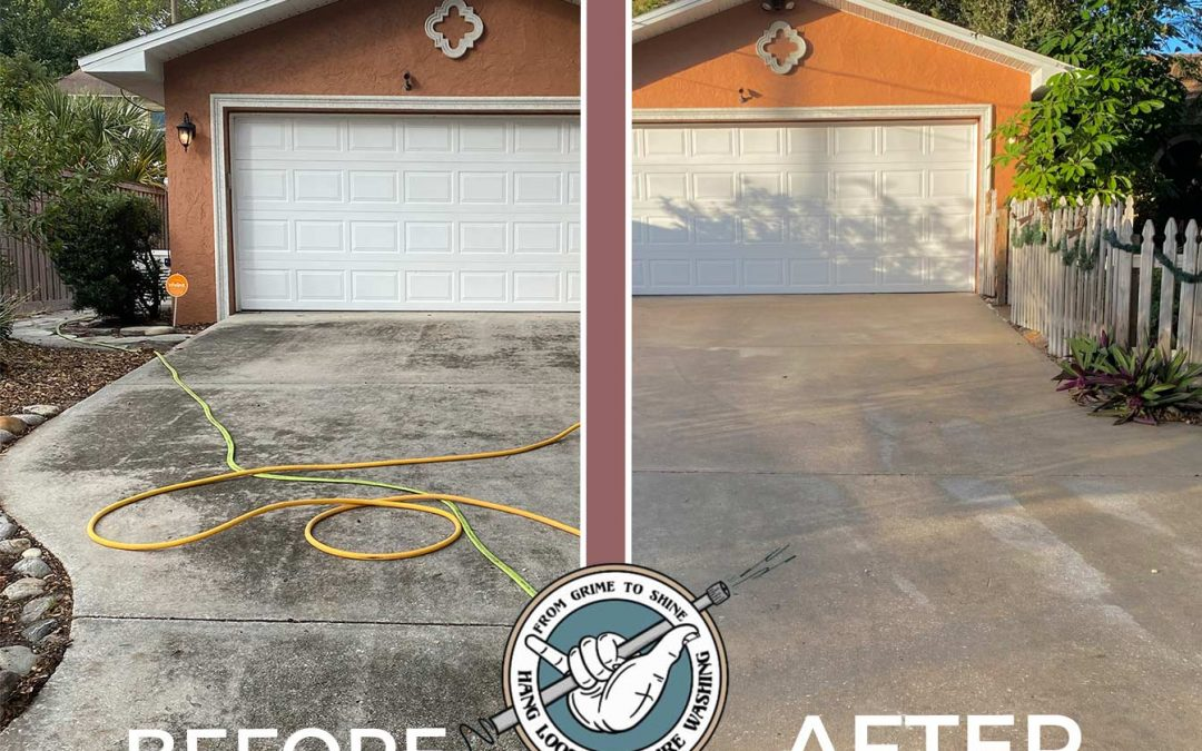 Another Driveway Cleaning Job with Amazing Results