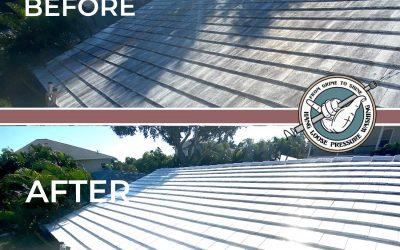 Roof Cleaning Job in Belleair Beach, FL